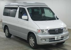 mazda bongo white side view good proces elavating roof