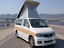 elavating roof car front view mazda bongo