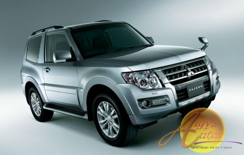 loverly voew of algys autos mitsubishi pajero in silver