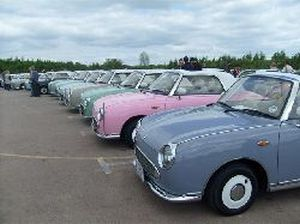 nissan figaro for sale uk lineup of lovely cars