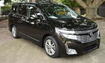 nissan elgrand E52 rider algys autos leather interior direct import from japan UK registered