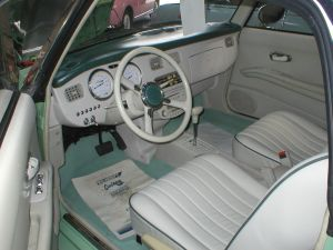 left hand drive nissan figaro for sale USA green lhd figaro