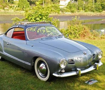 silver vw karmann ghia red leather interior