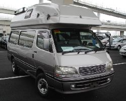 another toyata hiace camper fron view