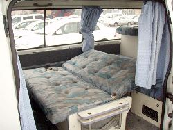 rock and roll bed hiace campervan