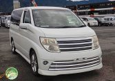 Nissan Elgrand Rider supplied for sale fully UK registered direct from Japan with V5 and Mot, algys autos best value in UK, fact!