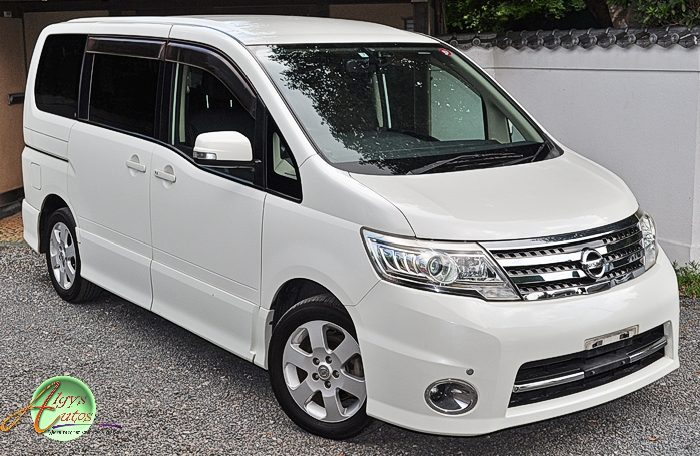 Nissan Serena Highway Star supplied for sale fully UK registered direct from Japan with V5 and Mot, algys