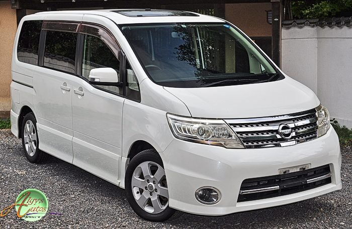 Nissan Serena supplied for sale fully UK registered direct from Japan with V5 and Mot, algys autos